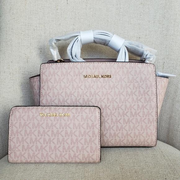 9e35a4079d09 NWT Michael Kors Bag And Wallet Bundle set pink MK
